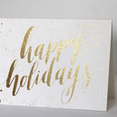 Luxury 'Happy Holidays' Christmas Card Pack