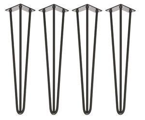 Four X Three Rod Black Hairpin Legs In All Sizes - furniture