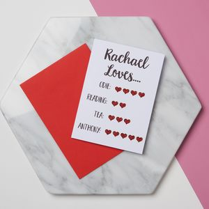 'I Love You More Than' Card - personalised cards