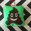 A Gift To Make You Smile! A Tapestry Cushion Kit Of Poo
