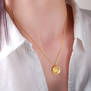 Contemporary Etched Satin Dome Necklace - necklaces & pendants