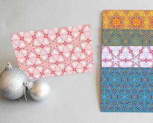 A Pack Of Five Festive Pattern Cards