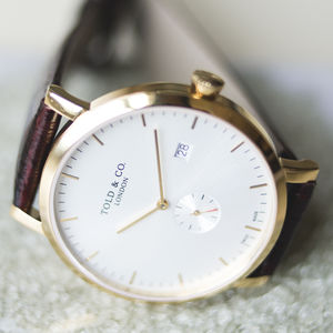 'Richmond' White And Gold Watch - watches