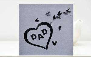 Dad Butterfly Greeting Card