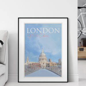 London St Pauls Cathedral Travel Poster