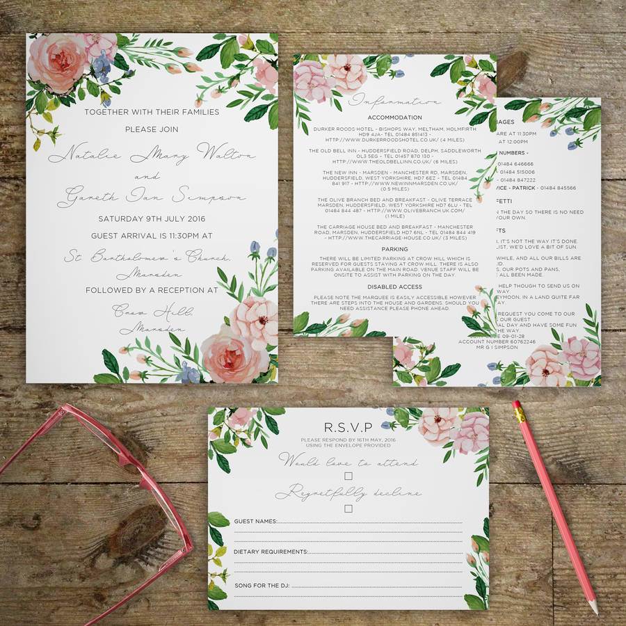 Outdoor Wedding Invitation Wording: Vintage Garden Wedding Invitations By Gray Starling