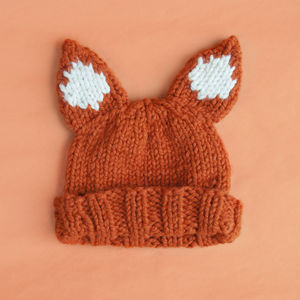 Make Your Own Faux Fox Hat Knitting Kit - creative kits & experiences