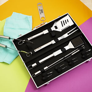 Personalised Barbecue Tool Set - aspiring chef
