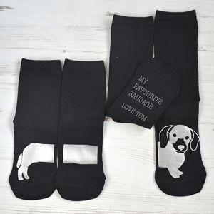 Me And You Set Of Sausage Dog Socks - children's socks