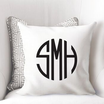 Personalised Monogram Initial Cushion Cover