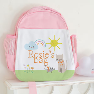 Personalised Children's Bag 'Cute cat' - back to school essentials