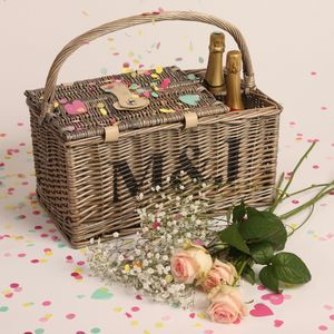 Personalised Picnic Basket - 40th anniversary: ruby