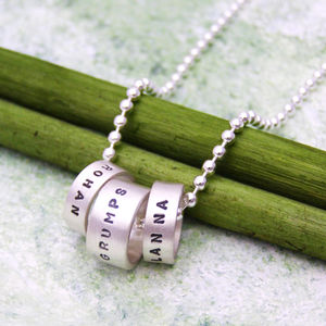 Personalised Hoop Pendant