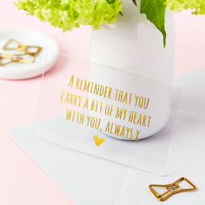 Personalised Love Keepsake Foiled Wallet Card