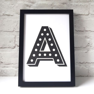 Circus Letter Initial Print