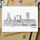 Liverpool Landmarks Greetings Card