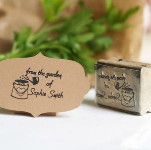 Personalised 'From The Garden Of' Rubber Stamp - stamps & inkpads