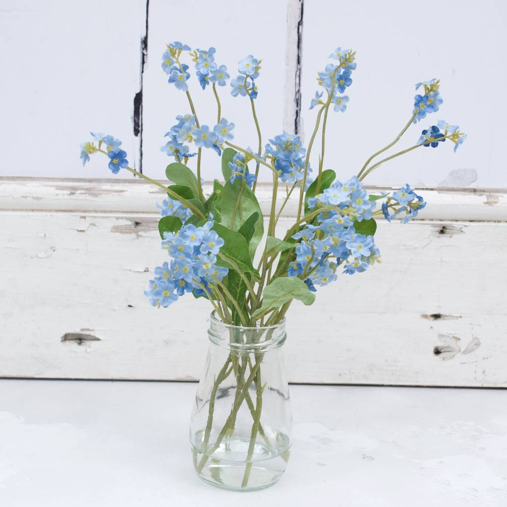 Faux Blue Forget Me Not Bouquet