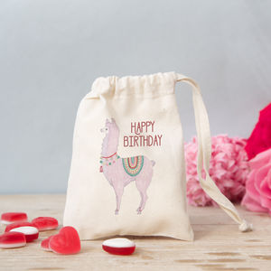 Personalised Llama Mini Gift Bag With Sweets - decoration