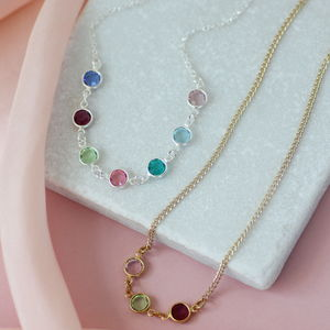 Family Birthstone Link Necklace - new in jewellery