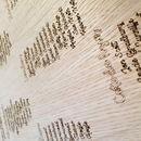 Wooden Etched Wedding Table Plan