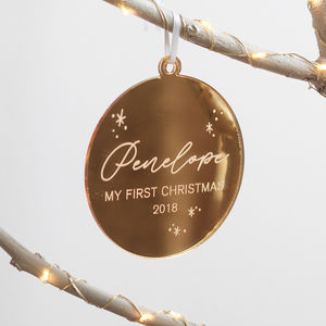 Personalised Baby's First Christmas Ornament