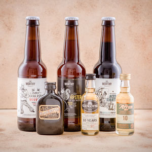 A Wee Half And Half : Whisky And Beer Bouquet - wines, beers & spirits