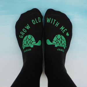 Personalised Tortoise Socks - new in fashion