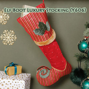 Elf Colourful Velvet Christmas Stocking Collection