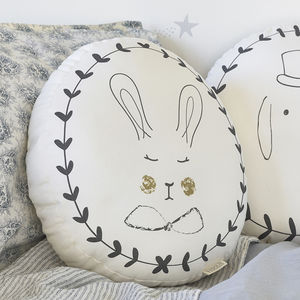 Rabbit Portraits Cushion