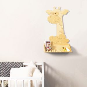 Personalised Giraffe Wooden Children's Shelf - office & study