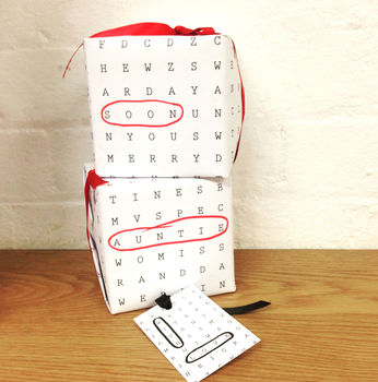 Word Search Wrapping Paper Standard