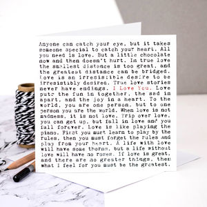 Love Card; I Love You - shop by category