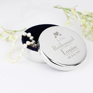 Bridal Party Personalised Trinket Box
