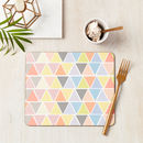 Geometric Pastel Pattern Placemat Set