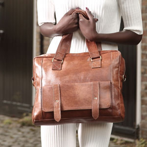 Leather Laptop Bag - bags & purses