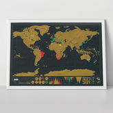 Scratch Map® Deluxe World Map Poster - prints & art