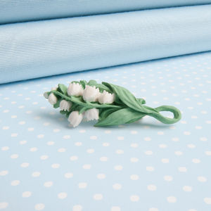 Lily Of The Valley Spray Brooch