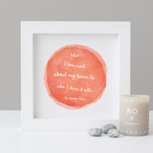 Personalised Watercolour Quote Print