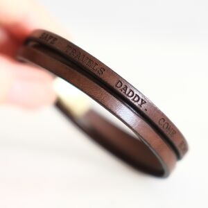 Personalised Message Leather Wrap Bracelet