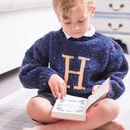 Hand Knitted Personalised Letter Jumper