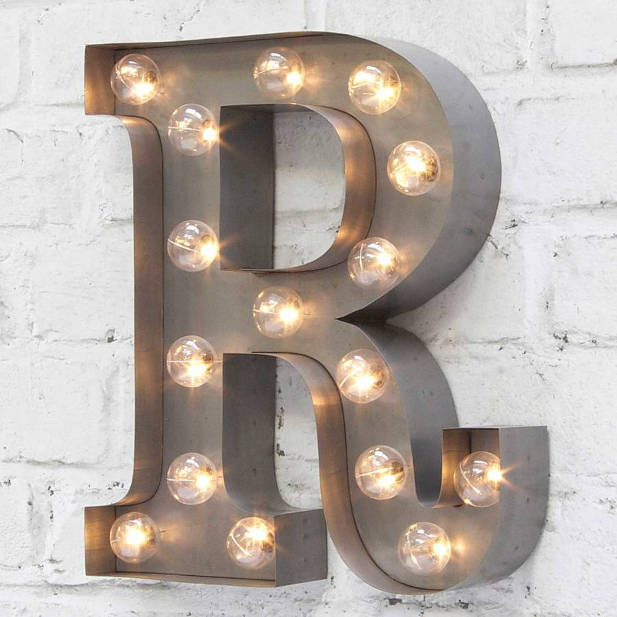 Carnival Letter Lights u0027A To Zu0027 Industrial Silver & carnival letter lights u0027a to zu0027 industrial silver by rocket u0026 rye ...