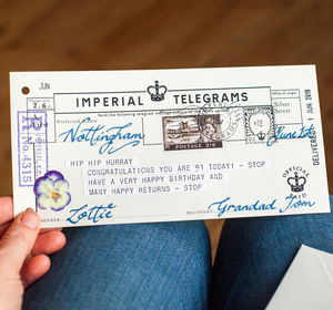 Hip Hurray Personalised Birthday Telegram