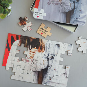 Personalised Wooden Couples Photo Puzzle