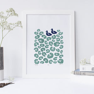 'Lily Pond' Ltd Edition Silkscreen Print