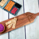 Personalised Acacia Wood Long Serving Board