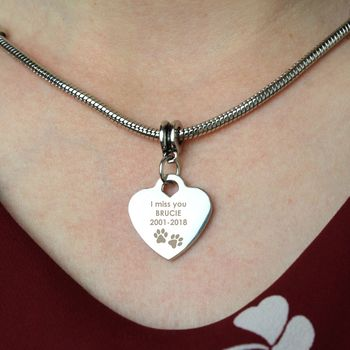 Personalised Animal Memory Necklace