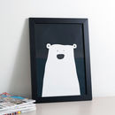 Clueless Bear Monochrome Print