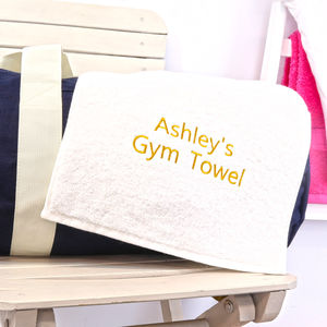 Personalised Gym Towel - personalised