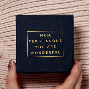 Personalised 'Mum, Ten Reasons You Are Wonderful' Box - gifts for mothers